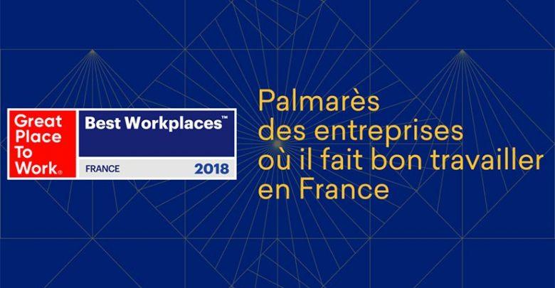 Great Place to Work 2018 : le palmarès des entreprises où il fait bon travailler