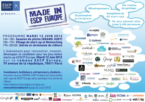 Le concours Made in ESCP Europe