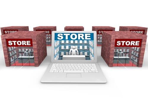 Les magasins face au web