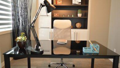 Photo de L'aménagement de l'espace de travail pour le home office