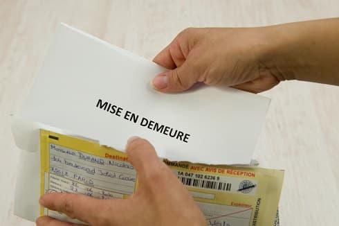 Que faire suite à la réception d'une lettre de mise en demeure ?