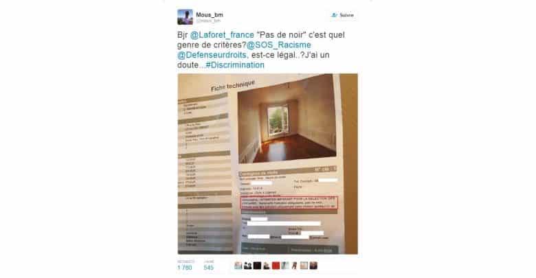 L'annonce immobilière raciste publiée par une agence Laforêt