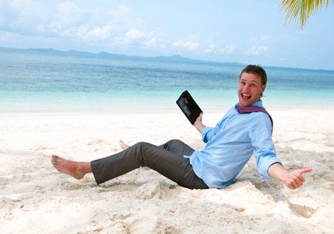 A quoi reconnaît-on un entrepreneur en vacances ?