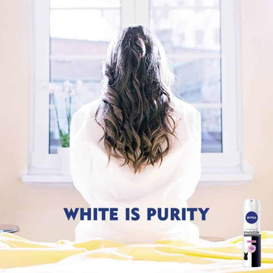 Un slogan tendancieux pour la marque Nivea!