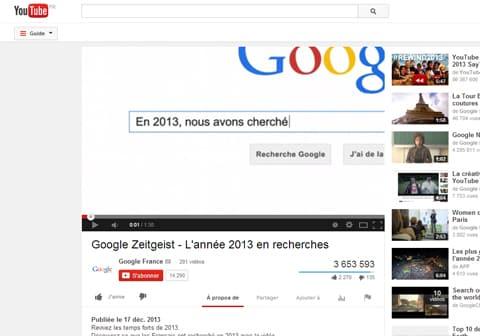 YouTube et Google : revivez les temps forts de 2013 en vidéo