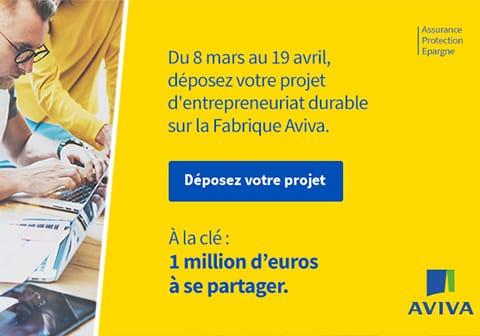 Aviva France offre 1 million d'euros pour 40 entrepreneurs