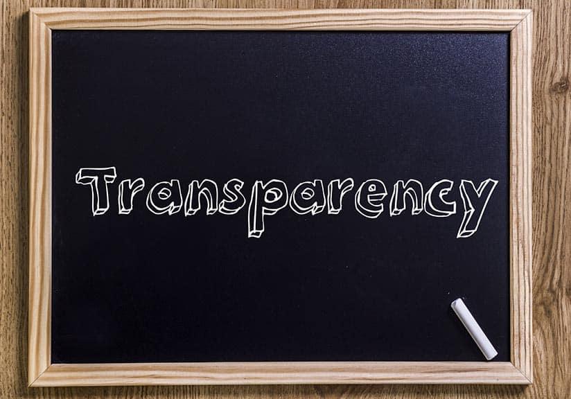 La transparence à tout prix