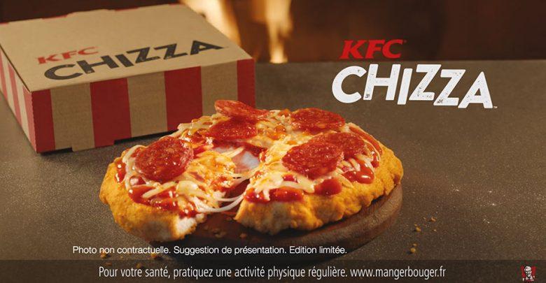 Simple publicité mensongère ou bad buzz ? Tout y est dans la « Chizza » de KFC !